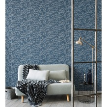 AS Création Mustertapete Soraya Tapete blau grau 10,05 m x 0,53 m
