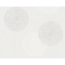 AS Création Mustertapete mit Glitter Spot 3 Vliestapete creme weiß 937922 10,05 m x 0,53 m