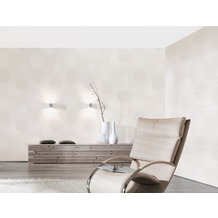 AS Création Mustertapete mit Glitter Spot 3 Vliestapete creme weiß 10,05 m x 0,53 m