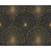 AS Création Mustertapete Spot 3 Vliestapete metallic schwarz 305531 10,05 m x 0,53 m