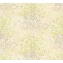 AS Création Mustertapete Vacation Vliestapete beige grau grün 343904 10,05 m x 1,06 m