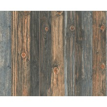 AS Création Mustertapete Wood`n Stone, Tapete, Holzoptik, beige, braun, grau 908612 10,05 m x 0,53 m
