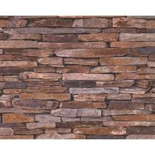 AS Création Mustertapete Wood`n Stone, Tapete, Natursteinoptik, beige, braun, gelb 914217 10,05 m x 0,53 m