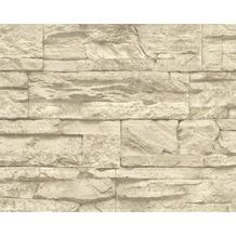 AS Création Mustertapete Wood`n Stone, Tapete, Natursteinoptik, beige, creme 707130 10,05 m x 0,53 m