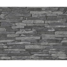 AS Création Mustertapete Wood`n Stone, Tapete, Natursteinoptik, grau, schwarz 914224 10,05 m x 0,53 m