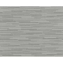 AS Création Mustertapete Wood`n Stone, Tapete, Steinoptik, grau, schwarz 709714 10,05 m x 0,53 m