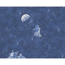 AS Création nachleuchtende Mustertapete, Leuchttapete Boys & Girls 5, Papiertapete, blau 304891 10,05 m x 0,53 m