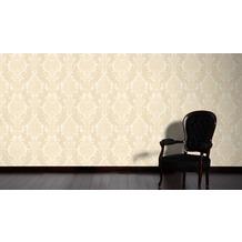 AS Création neo barocke Mustertapete Kingston Strukturprofiltapete beige creme metallic 10,05 m x 0,53 m