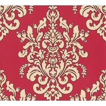 AS Création neobarocke Mustertapete Hermitage 10 beige metallic rot 341435 10,05 m x 0,53 m