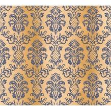 AS Création neobarocke Mustertapete Hermitage 10 blau braun 335454