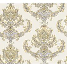 AS Création neobarocke Mustertapete Hermitage 10 blau creme gelb 335462