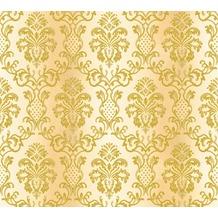 AS Création neobarocke Mustertapete Hermitage 10 creme gelb 335452 10,05 m x 0,53 m