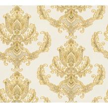 AS Création neobarocke Mustertapete Hermitage 10 creme gelb 335463 10,05 m x 0,53 m