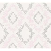 AS Création neobarocke Mustertapete Memory 3 Vliestapete creme metallic rosa 329892 10,05 m x 0,53 m