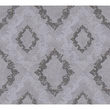 AS Création neobarocke Mustertapete Memory 3 Vliestapete grau metallic 329894 10,05 m x 0,53 m