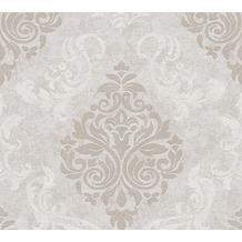 AS Création neobarocke Mustertapete Memory 3 Vliestapete grau metallic 10,05 m x 0,53 m