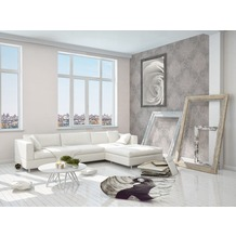 AS Création neobarocke Mustertapete Memory 3 Vliestapete grau metallic rosa 10,05 m x 0,53 m