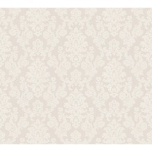 AS Création neobarocke Mustertapete New Look Strukturprofiltapete metallic weiß 339221 10,05 m x 0,53 m