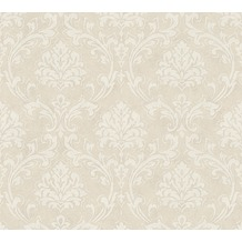 AS Création neobarocke Mustertapete New Look Tapete creme grau metallic 335393 10,05 m x 0,53 m