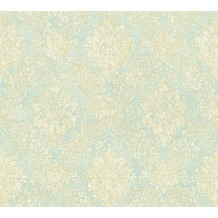 AS Création neobarocke Mustertapete Secret Garden Tapete blau creme metallic 336077 10,05 m x 0,53 m