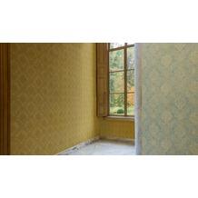 AS Création neobarocke Mustertapete Secret Garden Tapete gelb metallic 10,05 m x 0,53 m