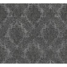 AS Création neobarocke Mustertapete Secret Garden Tapete grau metallic schwarz 336078 10,05 m x 0,53 m