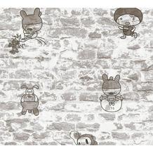 AS Création Papiertapete Boys & Girls 6 Tapete in Vintage Backstein Optik grau 369872 10,05 m x 0,53 m