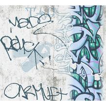 AS Création Papiertapete Boys & Girls 6 Tapete mit Graffiti grau grün schwarz 369862