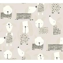AS Création Papiertapete Boys & Girls 6 Tapete mit niedlichen Hunden beige grau weiß 367553