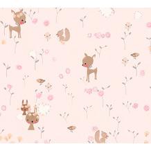 AS Création Papiertapete Boys & Girls 6 Tapete mit niedlichen Wald Tieren braun grün 369883 10,05 m x 0,53 m