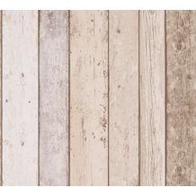 AS Création Papiertapete Il Decoro Tapete maritimer Vintage Holz Optik beige blau braun 899910 10,05 m x 0,53 m