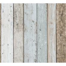 AS Création Papiertapete Il Decoro Tapete maritimer Vintage Holz Optik beige blau braun 899927 10,05 m x 0,53 m