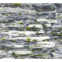 AS Création Papiertapete Il Decoro Tapete in Naturstein Optik grau schwarz 364921 10,05 m x 0,53 m