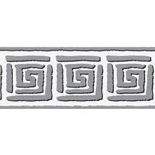 AS Création selbstklebende Bordüre Only Borders 9 grau schwarz weiß 936461 5,00 m x 0,05 m