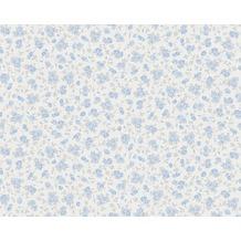 AS Création Shabby Chic Mustertapete Liberté, Tapete, blau, metallic, weiß 10,05 m x 0,53 m