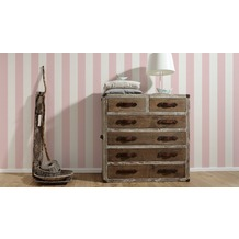 AS Création Shabby Chic Mustertapete Liberté, Tapete, rosa, weiß 10,05 m x 0,53 m