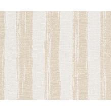 AS Création Shabby Chic Streifentapete Shabby Style, Vliestapete, beige, creme, metallic 10,05 m x 0,53 m