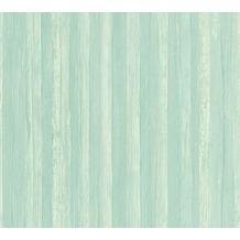 AS Création Streifentapete Borneo Tapete blau grün 327144 10,05 m x 0,53 m