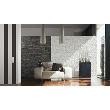 AS Création Streifentapete Elegance 3, Vliestapete, schwarz, weiß 10,05 m x 0,53 m