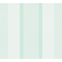 AS Création Streifentapete Essentials Vliestapete Tapete grün 307163 10,05 m x 0,53 m
