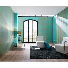 AS Création Streifentapete Fleece Royal, Tapete, blau, metallic