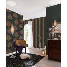 AS Création Streifentapete Fleece Royal, Tapete, metallic, schwarz