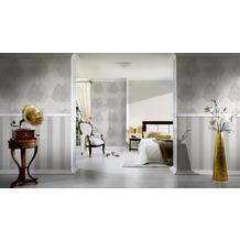 AS Création Streifentapete Fleece Royal, Tapete, metallic, weiß