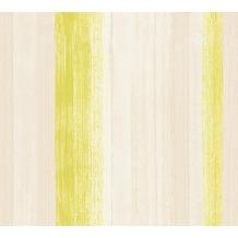 AS Création Streifentapete Free Nature Vliestapete beige grün 344501 10,05 m x 0,53 m