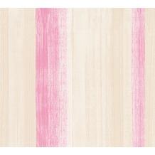 AS Création Streifentapete Free Nature Vliestapete beige rosa 344502 10,05 m x 0,53 m