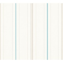 AS Création Streifentapete Happy Spring Vliestapete beige blau weiß 347642 10,05 m x 0,53 m
