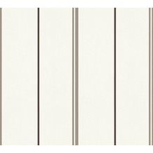 AS Création Streifentapete Happy Spring Vliestapete braun weiß 347692 10,05 m x 0,53 m
