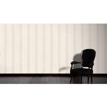 AS Création Streifentapete Hermitage 10 beige creme metallic 10,05 m x 0,53 m