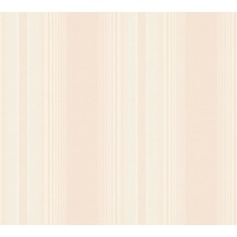 AS Création Streifentapete Hermitage 10 creme metallic rosa 330854 10,05 m x 0,53 m