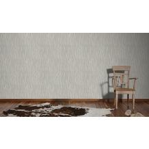 AS Création Streifentapete Kingston Strukturprofiltapete beige grau metallic 10,05 m x 0,53 m